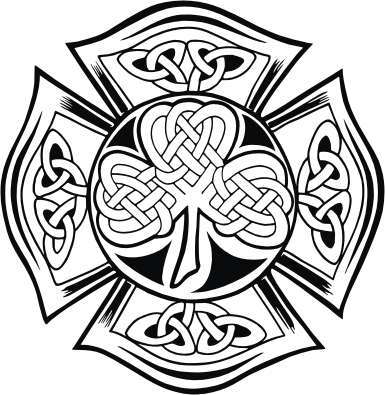 Celtic Knot Maltese Cross Clover Sticker